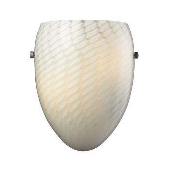Elk Lighting Night Glow Sconce in White Swirl and Chrome