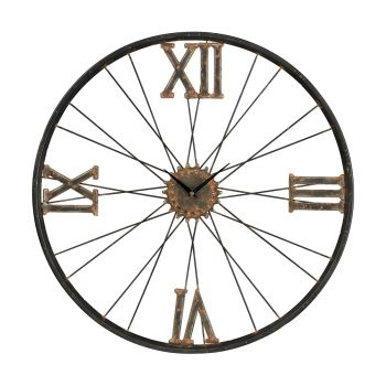 Sterling Industries Iron Wall Clock in Rust Finish