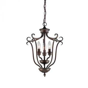 Millennium Lighting Fulton 3-Light Foyer/Hall Lantern in Rubbed Bronze