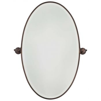 Minka Lavery 1432-267 Oval Mirror in Bronze