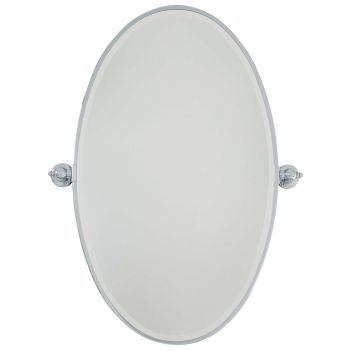Minka Lavery 1432-77 Oval Mirror in Chrome