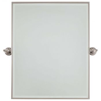 Minka Lavery 1441-84 Rectangle Mirror in Nickel