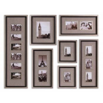 Uttermost Massena Set of 7 Photo Frame Collage