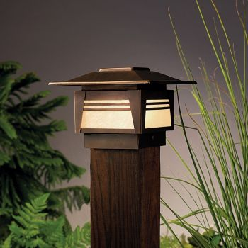 "Kichler Zen Garden 7"" 12V Step Light in Olde Bronze"