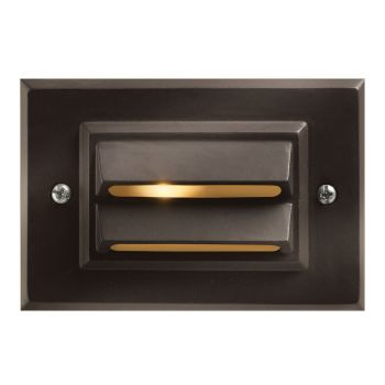 "Hinkley Signature 3"" LED Deck & Step Light in Bronze Finish"