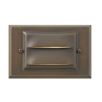 "Hinkley Signature 3.25"" LED Deck & Step Light in Matte Bronze Finish"