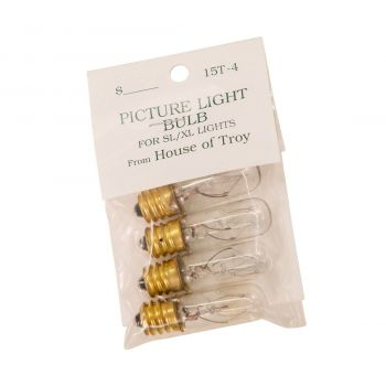 House of Troy Accessory 15W T4 Bulb in Clear (Pack of 4)