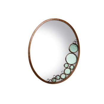Varaluz Fascination Oval Mirror in Hammered Ore Finish