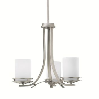 Kichler Hendrik 3-Light Chandelier in Brushed Nickel