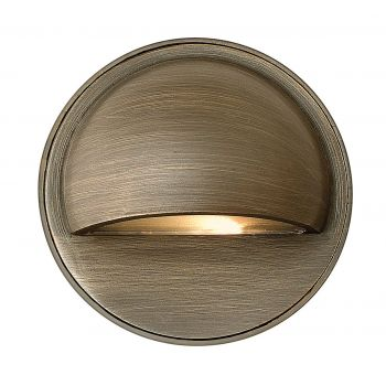 "Hinkley Hardy Island 2"" LED Deck & Step Uplight in Matte Bronze Finish"