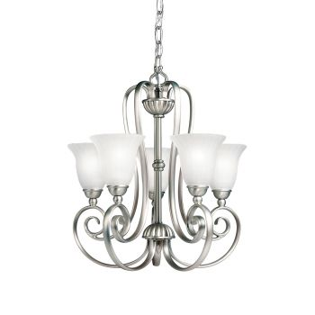 "Kichler Willowmore 5-Light 16.5"" Mini Chandelier in Brushed Nickel"