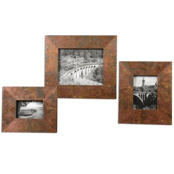 Uttermost Ambrosia Photo Frames in Oxidized Copper (Set of 3)