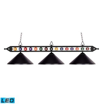 Elk Lighting Designer Classics/Billiard/Island LED 3-Light Billiard/Island in Matte Black