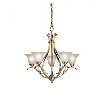 Kichler Dover 5-Light Chandelier in Antique Brass