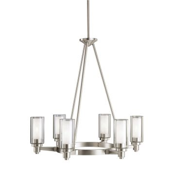 Kichler Circolo 6-Light Chandelier in Brushed Nickel