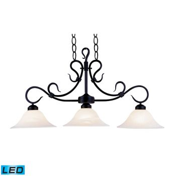 Elk Lighting Buckingham LED 3-Light Billiard/Island in Matte Black