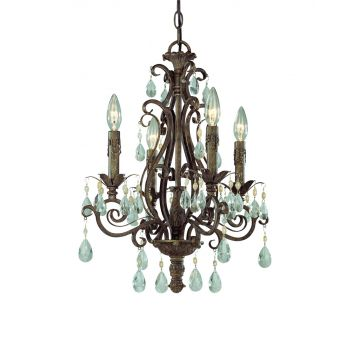 Jeremiah Englewood 4-Light Up Chandelier in French Roast