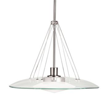 "Kichler Structures 1-Light 18"" Pendant in Brushed Nickel"