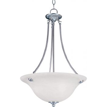 Maxim Lighting Malibu 3-Light Bowl Pendant in Satin Nickel