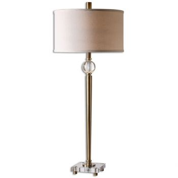 Uttermost mesita 40 buffet lamp in plated brush brass