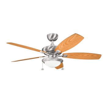"""Kichler Canfield Select 52"""" Ceiling Fan in Stainless Steel"""