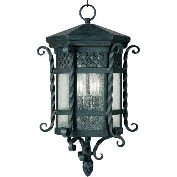 "Maxim Lighting Scottsdale 3-Lt 21"" Outdoor Hanging Lt,Black"
