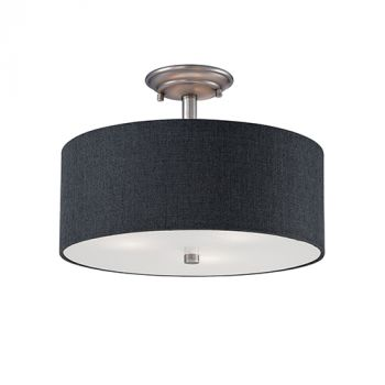 Millennium Lighting Jackson 3-Light Semi-Flush in Brushed Pewter