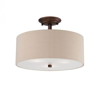 Millennium Lighting Jackson 3-Light Semi-Flush in Rubbed Bronze