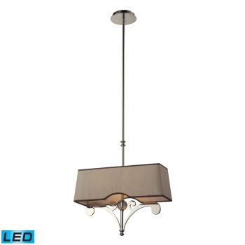 Elk Lighting Linear Pendants LED 2-Light Billiard/Island in Polished Nickel