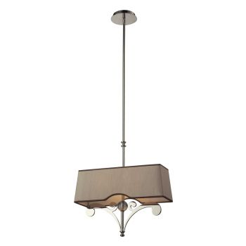 Elk Lighting Linear Pendants  2-Light Billiard/Island in Polished Nickel