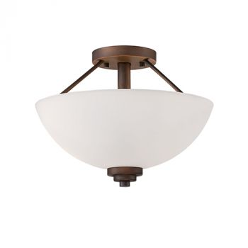 Millennium Lighting Durham 2-Light Semi-Flush in Rubbed Bronze
