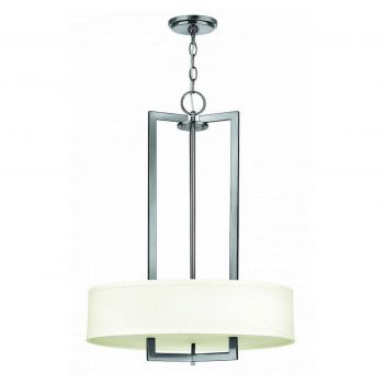"Hinkley Hampton 26.5"" LED Drum Chandelier in Antique Nickel"