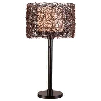 Kenroy Home Tanglewood Outdoor Table Lamp in Bronze Finish