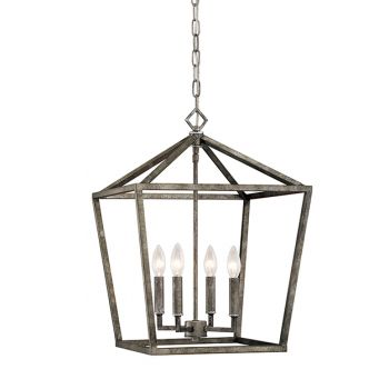Millennium Lighting 3000 Series 4-Light Pendant in Antique Silver