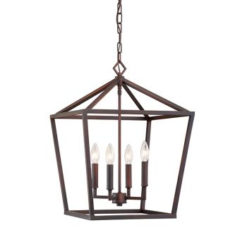 Millennium Lighting 3000 Series 4-Light Pendant in Rubbed Bronze