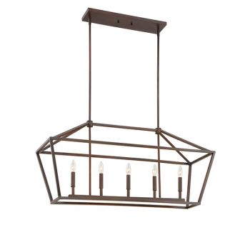 Millennium Lighting 3000 Series 5-Light Pendant in Rubbed Bronze