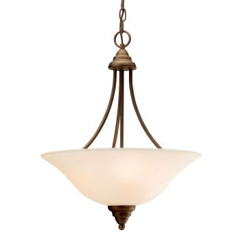 "Kichler Telford 3-Light 17.5"" Inverted Pendant - Olde Bronze"