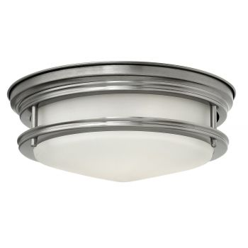 Hinkley Hadley 2-Light Flush Mount in Antique Nickel Finish