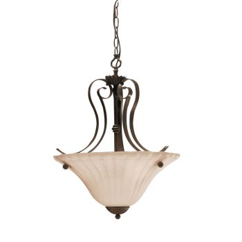 "Kichler Willowmore 2-Light 16"" Small Inverted Pendant in Tannery Bronze"