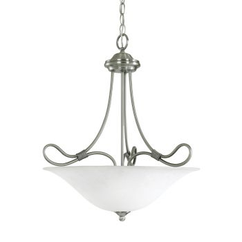 "Kichler Stafford 3-Light 18.5"" Small Inverted Pendant in Antique Pewter"