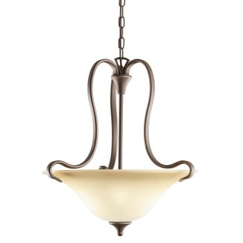 Kichler Wedgeport 2-Light Small Inverted Pendant - Olde Bronze