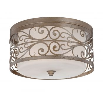 Jeremiah Worthington 3-Light Flush Mount in Athenian Obol