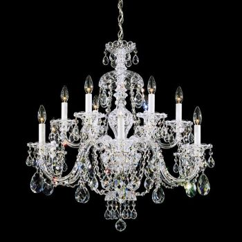 Schonbek Sterling 12 Light Chandelier