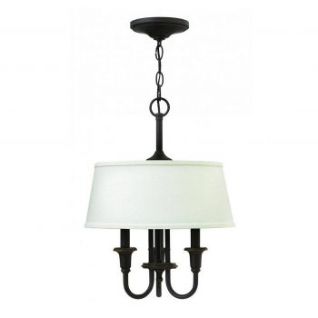 "Hinkley Webster 19"" 3-Light Drum Chandelier in Oil Rubbed Bronze"