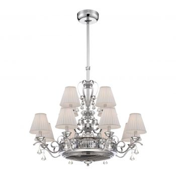 Savoy House Coromell 12-Light Air-Ionizing Fan d'Lier in Polished Chrome