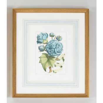 Chelsea House Black Floral with Ribbon-B Wall Art