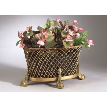 Chelsea House Dolphin Planter in Gold Wirework