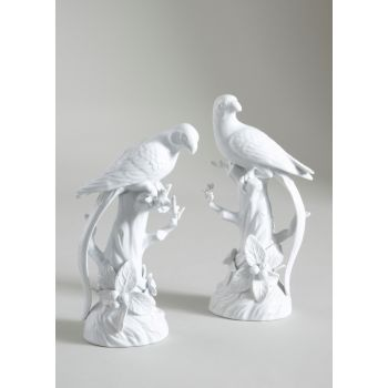 Chelsea House Pair of Parrot/Fruit Tree Decorative Figurine