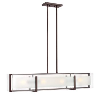 Hinkley Latitude 4-Light Linear Chandelier in Oil Rubbed Bronze
