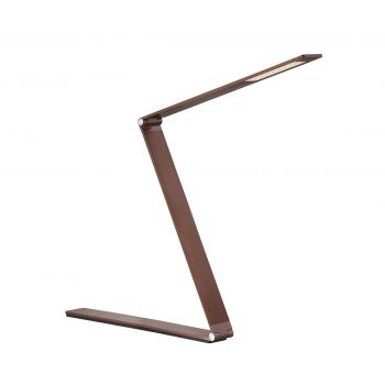 Savoy House Fusion Z LED Task Lamp with Dimmer in Rose Gold Bronze